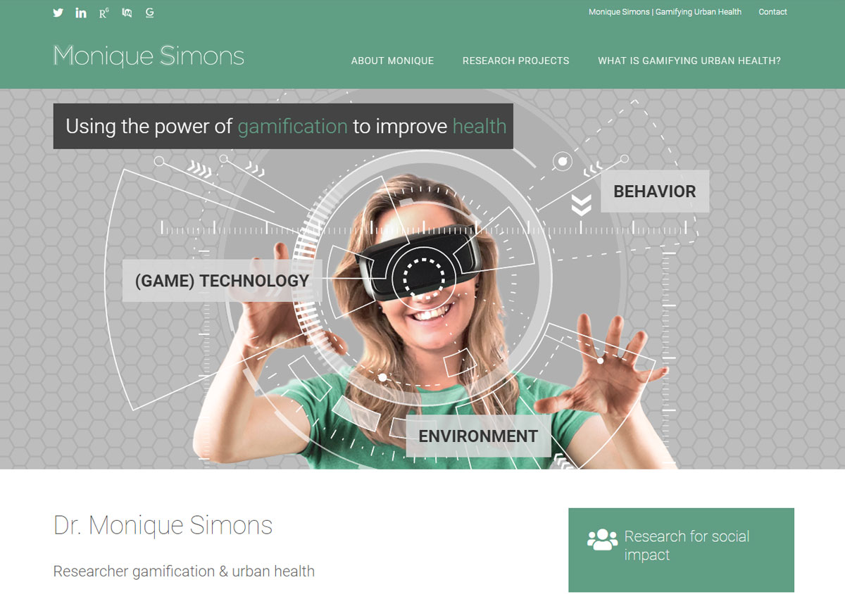 Personal website scientist researcher Monique Simons - The Online Scientist